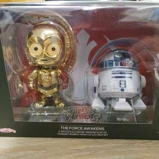 星戰Star Wars C-3PO & R2-D2 Cosbaby Bobble-Head Collectibile Set