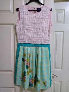 Plains & Prints pink & green dress
