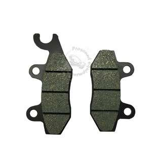 BRAKE PAD KIT FOR YAMAHA 125New Item High Quality Suitable For YAMAHA 125 Reduction in noice Keeping wheel dust to a minimum Minimize damage to disc rotor Superb high temperature stabality Eco-friendly product Make in Thailand