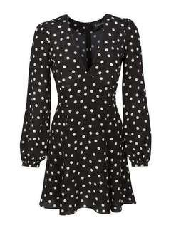 Realisation Par Kate Black and White Spot dress RENT ONLY
