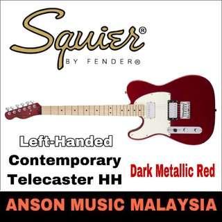 Squier Contemporary Telecaster HH Left-Handed Electric Guitar, Dark Metallic Red
