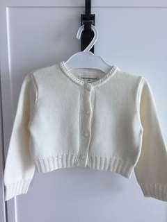 ChickeeDuck Ivory knit short cardigan size 100