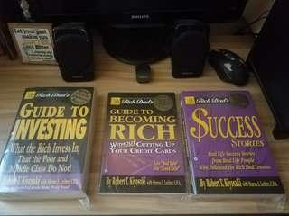 Robert Kiyosaki Bundle books Guide to Investing Guide to Becoming Rich Success Stories