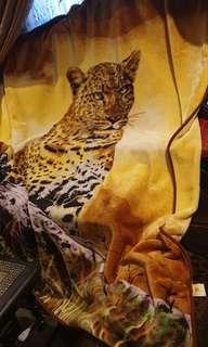 Big king size cheetah leopard blanket made in spain