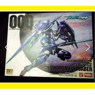 請看推廣優惠 原裝正版 Hobby Japan 附錄 改件 (不包括高達) 全新未砌 HG 1/144 00Q GN SWORD IV FULL SABER 00 Gundam 高達模型 5