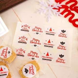 Christmas adhesive seal stickers