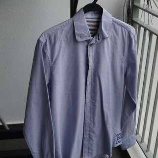 Benjamin Barker Oxford Shirt (Blue) + FREE Raoul Cufflinks