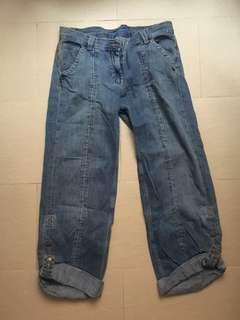 French collection fcuk wide leg jeans 寬腳牛仔褲