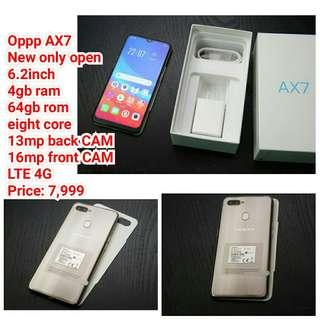 Oppp AX7 New only open  6.2inch