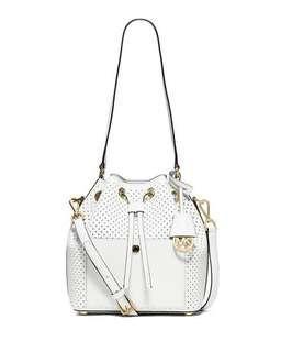 Genuine MICHAEL KORS drawstring bucket bag white
