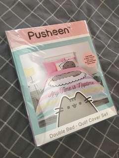 PUSHEEN bed sheet quilt cover set double