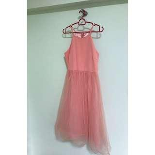 Bridesmaid Dress Peach Pink
