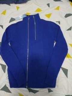 全新indu homme 外套 Size 48 zip up blue 藍色