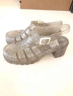 🚚 Juju果凍亮亮透明涼鞋