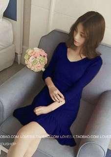 Navy Blue Knit Dress