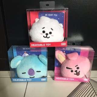 BT21 Heatable toys