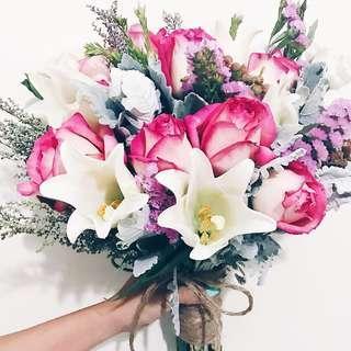 Designer secret garden bridal bouquet WD151