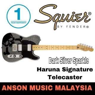 Squier Haruna Signature Telecaster Electric Guitar, Dark Silver Sparkle