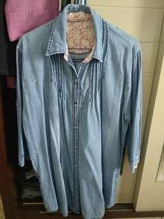 baju jeans oversized