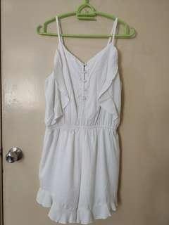 White Romper with Ruffles