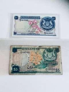 $1 & $5 Orchid Notes