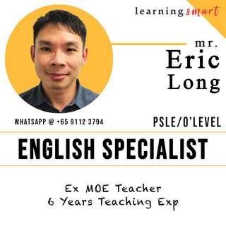 Ex School teacher - English O level PSLE