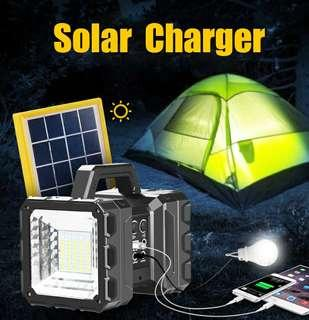 Solar LED strong light searchlight outdoor square emergency