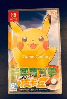全新 Switch Pokemon Let's Go 比卡超 中英日文