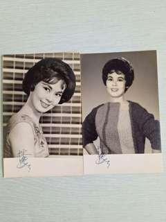 Original black n white photos with hong kong movie star signature perfect condition 2pieces $30