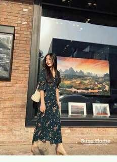 😇Maxi floral long sleeve dress