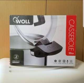 【全新】德國名牌雙耳鍋連蓋 20厘米 3公升    WOLL Casserole with glass lid 20cm 3.0L