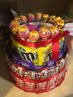 Exciting Candy Cake for Party