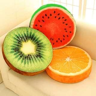 [REDUCED} Fruit slices cushion - left orange only