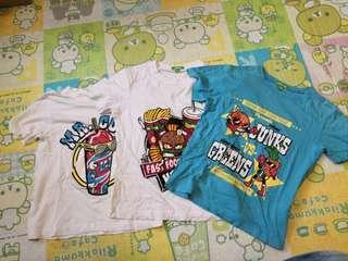 3件小童新淨t-shirt size 130, total 30, biy from uniqluo