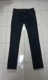 🚚 PSGB 牛仔褲 窄版 內加厚 有彈性 韓風