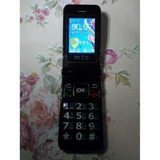 🚚 mto M398 銀髮族折疊老人機 3G 4G 可用,大按鍵、大字體、大音量、LED手電筒,功能都正常,只賣700元
