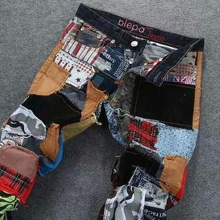 日韓版破洞拼布花褲 有需要哪款請PO款示給我 尺寸:28~38 賴lucky2200(小培) FB:南部雜貨舖