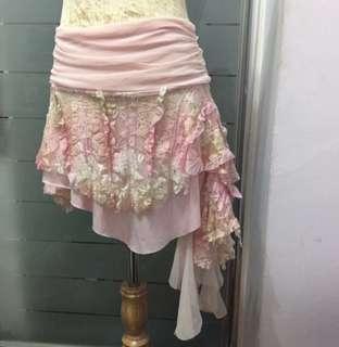 Coco Latte Irregular Pretty Ballerina skirt in pink paddlepop
