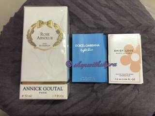 Annick Goutal Rose Absolue EDP 50ml + 2 free vials!