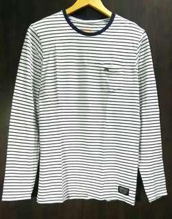 Mens korean style striped long sleeve t shirt