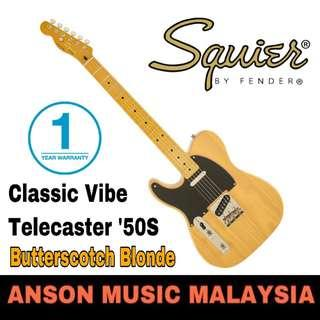 Squier Classic Vibe Telecaster '50S Left-Handed Electric Guitar, Butterscotch Blonde