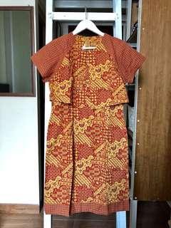 SALE - Batik keris midi dress