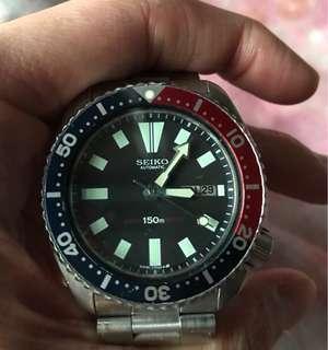 Seiko automatic 150m 百事圈 停產錶 絕版 6309-720A