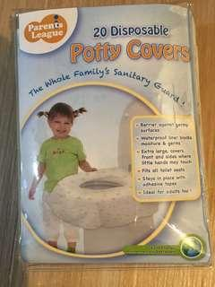 Disposable potty covers