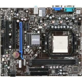 🚚 微星 NF725GTM-P31 固態電容主機板、AM2+腳位、支援DDR2、PCI-E、拆機良品、附擋板