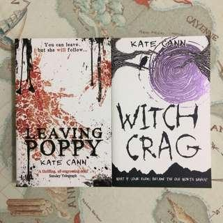 Leaving Poppy and Witch Crag books by Kate Cann