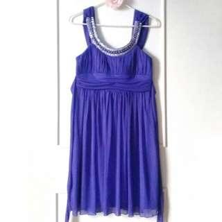 PURPLE COCKTAIL DRESS PARTY DRESS