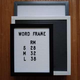 Word frame #MY1212