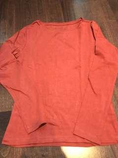Burnt orange long sleeve