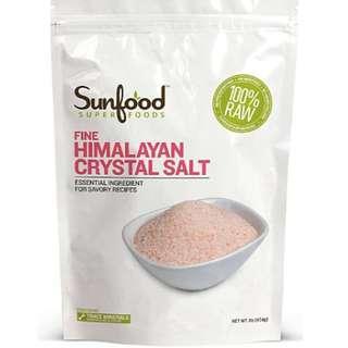 Sunfood Fine Himalayan Salt 頂級喜瑪拉雅岩鹽 (454 g)